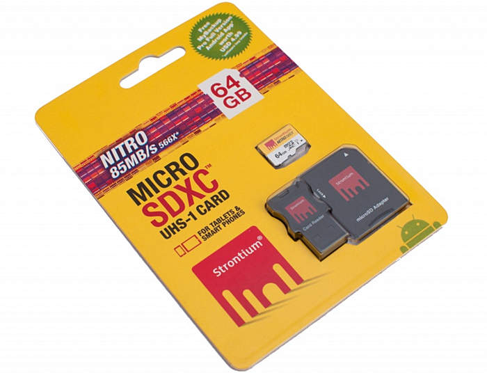 Strontium Nitro SDXC UHS-1 U1 566X 64GB