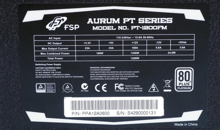 FSP Aurum PT-1200FM
